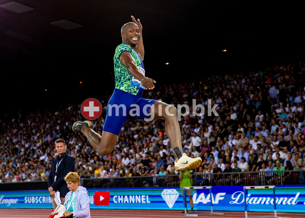 Luvo MANYONGA of South Africa competes in the Men's Long Jump during the Iaaf Diamond League meeting (Weltklasse Zuerich) at the Letzigrund Stadium in Zurich, Switzerland, Thursday, Aug. 29, 2019. (Photo by Patrick B. Kraemer / MAGICPBK)