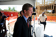 Public Relations Photograhs of the press conference featuring HUD Secretary Shaun Donovan