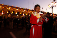 During a procession