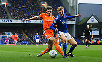 Blackpool's Matty Virtue vies for possession with Ipswich Town's Flynn Downes<br /> <br /> Photographer Chris Vaughan/CameraSport<br /> <br /> The EFL Sky Bet League One - Ipswich Town v Blackpool - Saturday 23rd November 2019 - Portman Road - Ipswich<br /> <br /> World Copyright © 2019 CameraSport. All rights reserved. 43 Linden Ave. Countesthorpe. Leicester. England. LE8 5PG - Tel: +44 (0) 116 277 4147 - admin@camerasport.com - www.camerasport.com