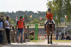 Schuttelaar Beau, NED, Caretino<br /> European Championship Children, Juniors, Young Riders - Fontainebleau 1028<br /> © Hippo Foto - Dirk Caremans<br /> Schuttelaar Beau, NED, Caretino