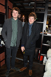 Left to right, brothers CASPAR VON BISMARCK and NIKOLAI VON BISMARCK at a birthday party for Kyle De'Volle hosted by Rita Ora at Bo Lang, 100 Draycott Avenue, London SW3 on 29th November 2013.