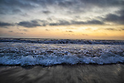 Waves on Santa Monica Beach, California, USA