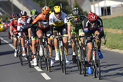 October 9, 2016 - Tours, FRANCE - TOURS, FRANCE - OCTOBER 9 : WYNANTS Maarten (BEL) Rider of TEAM LOTTO NL - JUMBO, GERTS Floris (NED) Rider of BMC RACING TEAM, LANG Pirmin (SUI) Rider of IAM CYCLING, BARGUIL Warren (FRA) Rider of TEAM GIANT - ALPECIN, VAN GOETHEM Brian (NED) Rider of ROOMPOT - ORANJE PELOTON and GERARD Arnaud (FRA) Rider of FORTUNEO - VITAL CONCEPT in action during  the 110th edition of the Paris-Tours cycling race with start in Dreux and finish in Tours on October 09, 2016 in Tours, France, 9/10/2016 (Credit Image: © Panoramic via ZUMA Press)