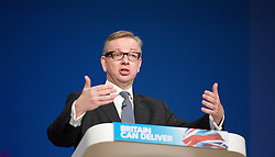 Conservative Party Conference, ICC, Birmingham, Great Britain <br /> Day 4<br /> 9th October 2012 <br /> <br /> Rt Hon Michael Gove MP <br /> Education minister <br /> <br /> <br /> <br /> Photograph by Elliott Franks<br /> <br /> United Kingdom<br /> Tel 07802 537 220 <br /> elliott@elliottfranks.com<br /> <br /> ©2012 Elliott Franks<br /> Agency space rates apply