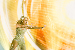 22.05.2015, Stadthalle, Wien, AUT, Eurovision Songcontest Vienna 2015, Kostümprobe für das Große Finale, im Bild Edurne aus Spanien // Edurne from Spain during dress rehearsal of the grand final for Eurivision Songcontest Vienna 2015 at Stadthalle in Vienna, Austria on 2015/05/22, EXPA Pictures © 2015, PhotoCredit: EXPA/ Michael Gruber