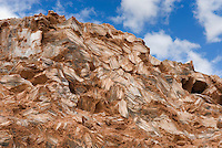 Glass Mountain, a geological curiosity composed of large gypsum (selenite) crystals, Capitol Reef National Park Utah