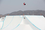 James Woods Great Britain during the  mens ski slopestyle finals at the Pyeongchang Winter Olympics on 18th February 2018 at Phoenix Snow Park in South Korea