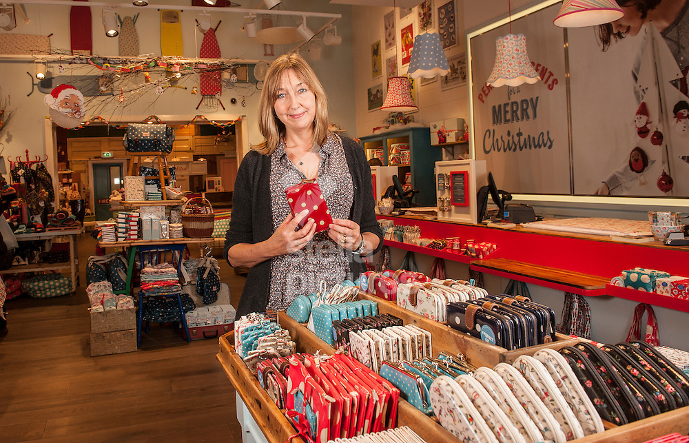 Picture by Daniel Hambury/Stella Pictures Ltd +44 7813 022858<br /> 25/11/2013<br /> English fashion designer, businesswoman, and entrepreneur Cath Kidston pictured in her store in Westfield shopping centre, Shepard's Bush.