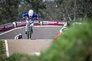 #971 (VALENTINO Manon) FRA at Round 10 of the 2019 UCI BMX Supercross World Cup in Santiago del Estero, Argentina