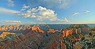 VIEW FROM CAPE ROYAL, NORTH RIM, GRAND CANYON, ARIZONA, Panorama, sunset