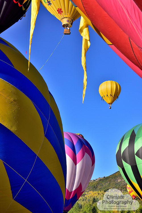 The many colorful balloons of the 2015 Snowmass Balloon Festival!