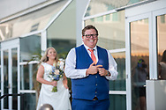 Anticipation mounts during a couples First Look before the wedding ceremony by Kristina Cilia Photography