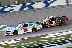 July 13, 2018 - Sparta, Kentucky, United States of America - Matt Tifft (2) and Justin Allgaier (7) battle for position during the Alsco 300 at Kentucky Speedway in Sparta, Kentucky. (Credit Image: © Chris Owens Asp Inc/ASP via ZUMA Wire)