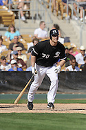 GLENDALE, AZ - MARCH 5:  Jason Botts #70 of the Chicago White Sox bats against the Los Angeles Dodgers on March 5, 2010 at The Ballpark at Camelback Ranch in Glendale, Arizona. (Photo by Ron Vesely)