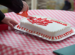 Cake is cut at the start of Canada 150 events in Lockeport, N.S., population 531, on Saturday, July 1, 2017. Lockeport is a traditional Nova Scotia fishing town on the province's South Shore and was founded in 1762. Photo by Andrew Vaughan/CP/ABACAPRESS.COM