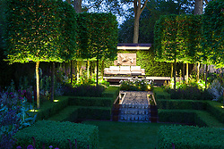 The Husqvarna Garden at night. RHS Chelsea Flower Show 2016, Designer: Charlie Albone