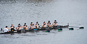 Cambridge. Mass, USA. 2014 Head of the Charles Regatta. Master Women's Eights 40+. Charles River. Boston.  Saturday  18/10/2014  [Mandatory Credit; Peter Spurrier/Intersport-images] <br /> <br /> Crew: 8: Cath Bishop, 7: Katherine Grainger, 6: Kate Allen, 5: Gillian Lindsay, 4: Philippa Cross<br /> 3: Kate MacKenzie, 2: Rachel Stanhope, 1: Jo White, c: Adrian Ellison 2014. HOCR, 50 Years, anniversary