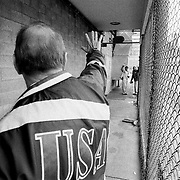 ..After appealing to thousands of inmates for two days to follow him to salvation via Christianity, a volunteer counselor for the Bill Glass Prison Ministry says goodbye on Sunday morning at the Pitchess Honor Rancho, part of the sprawling LA County Jail system.
