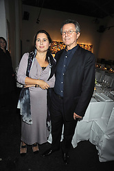 ALEXANDRA SHULMAN and DAVID JENKINS at an exhibition entitled 'Cut Flowers' by Robin Derrick held at 70a Silverthorne Road, London SW8 on 8th October 2008.
