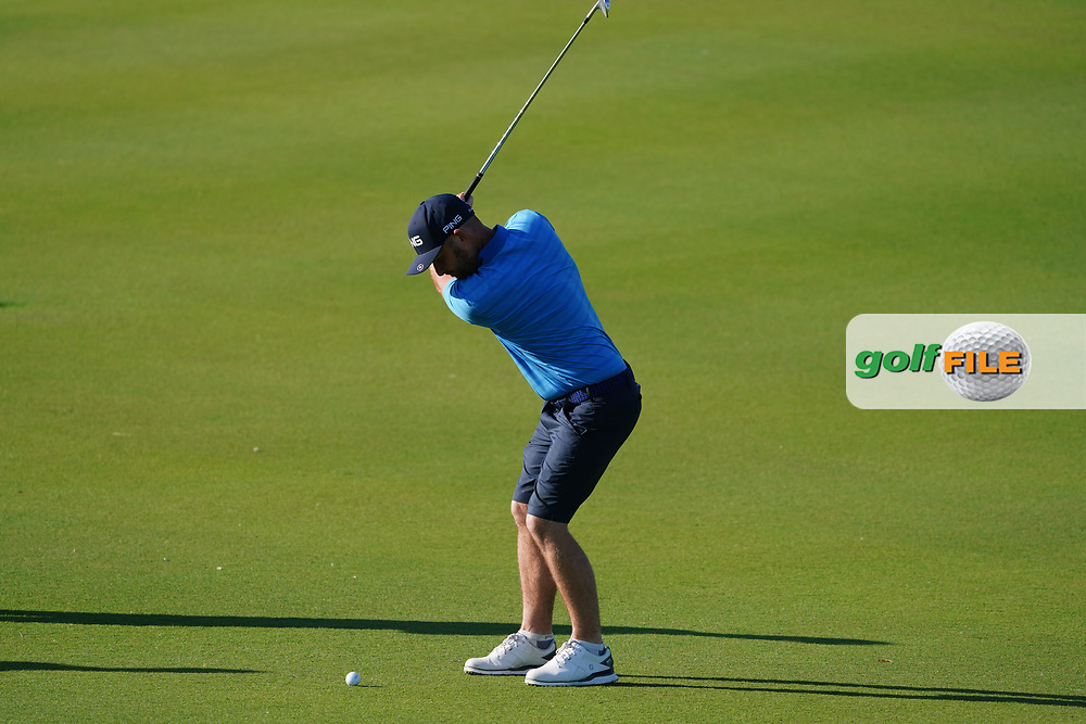 Andy Sullivan (ENG) on the 1st during the Pro-Am of the Commercial Bank Qatar Masters 2020 at the Education City Golf Club, Doha, Qatar . 04/03/2020<br /> Picture: Golffile | Thos Caffrey<br /> <br /> <br /> All photo usage must carry mandatory copyright credit (© Golffile | Thos Caffrey)