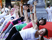 XI'AN, CHINA - JUNE 29: (CHINA OUT) <br /> <br /> Hundreds Of People Practice Yoga In Xi'an, China<br /> <br /> Hundreds of people practice yoga at a square during a yoga event held by Yanta District Bureau of Culture and Sports on June 29, 2013 in Xi'an, Shaanxi Province of China. <br /> ©Exclusivepix