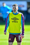Michael Smith (#2) of Heart of Midlothian FC during the warm up before the SPFL Championship match between Dunfermline Athletic and Heart of Midlothian at East End Park, Dunfermline, Scotland on 3 April 2021.