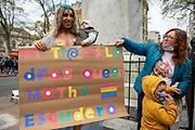 20210924 /URUGUAY / MONTEVIDEO / Previa de la Marcha por la Diversidad.<br /> <br /> En la foto: Previa de la Marcha por la Diversidad, en Plaza Cagancha. Foto: Santiago Mazzarovich / adhocFOTOS