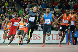 30.08.2012, Stadion Letzigrund, Zuerich, SUI, Leichtathletik, Weltklasse Zurich 2012, im Bild Reto Amaru Schenkel (L, SUI), 4x100m Maenner // during Athletics World Class Zurich 2012 at Letzigrund Stadium, Zurich, Switzerland on 2012/08/30. EXPA Pictures © 2012, PhotoCredit: EXPA/ Freshfocus/ Valeriano Di Domenico..***** ATTENTION - for AUT, SLO, CRO, SRB, BIH only *****