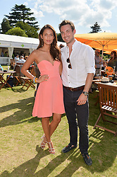 JULES KNIGHT and JO RENWICK at the Summer Solstice Party during the Boodles Tennis event hosted by Beulah London and Taylor Morris at Stoke Park, Park Road, Stoke Poges, Buckinghamshire on 21st June 2014.
