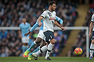 Mousa Dembélé (Tottenham Hotspur) during the Barclays Premier League match between Manchester City and Tottenham Hotspur at the Etihad Stadium, Manchester, England on 14 February 2016. Photo by Mark P Doherty.
