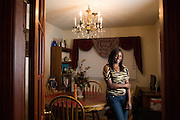 Foster child Aleta poses for a portrait at her foster home in Milpitas, California, on September 30, 2013. (Stan Olszewski/SOSKIphoto)