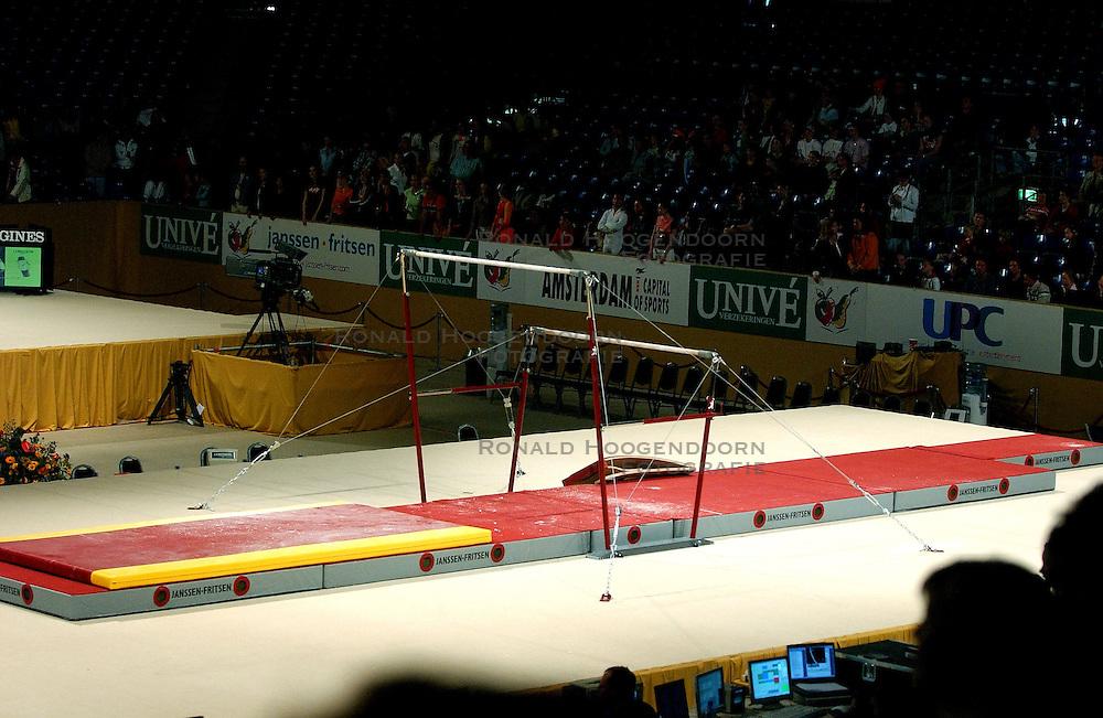 02-05-2004 TURNEN: EUROPEES KAMPIOENSCHAP DAMES: AMSTERDAM<br /> De Amsterdamse RAI , turn lokatie item creative ongelijke leggers<br /> ©2004-www.fotohoogendoorn.nl