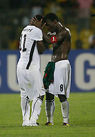 Photo: Steve Bond/Richard Lane Photography.<br />Ghana v Cameroon. Africa Cup of Nations. 07/02/2008. Michael Essien (R) consoles Sulley Muntari (L)