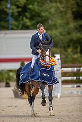 Keunen Pieter, NED, Kardinaal HX<br /> Nationaal Kampioenschap KWPN<br /> 5 jarigen springen final<br /> Stal Tops - Valkenswaard 2020<br /> © Hippo Foto - Dirk Caremans<br /> 19/08/2020