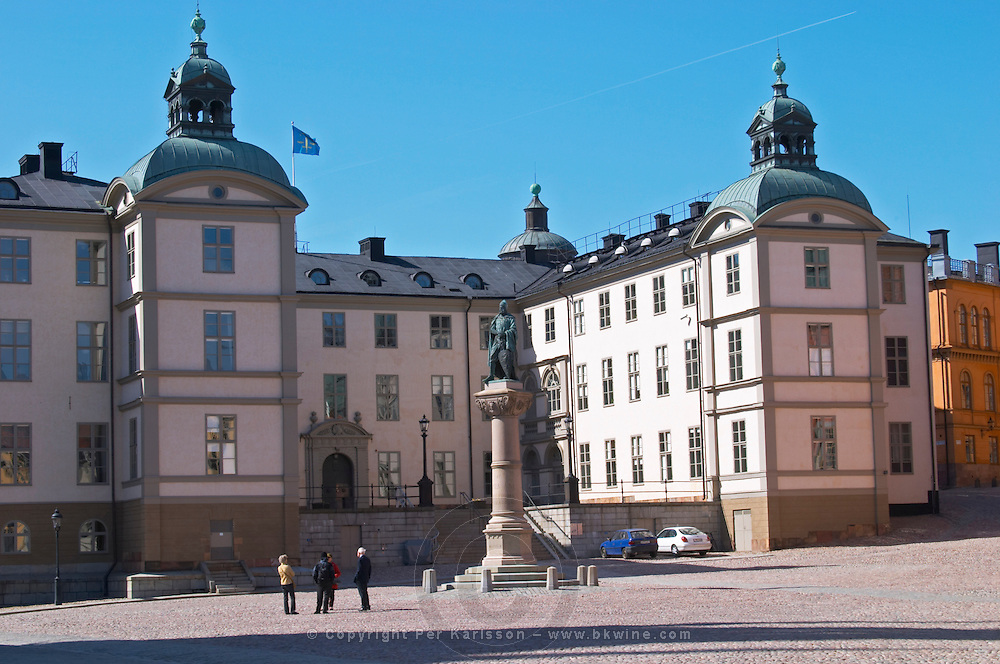 The Wrangelska Palatset on Riddarholmen, seat of Svea Hovratt, the appeals court, dating back to the 16th century. Stockholm. Sweden, Europe.