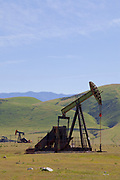 Oil Derricks, San Joaquin Valley, Kern County, California , USA