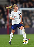 Jordan Nobbs (8) of England during the FIFA Women's World Cup UEFA Qualifier match between England Ladies and Wales Women at the St Mary's Stadium, Southampton, England on 6 April 2018. Picture by Graham Hunt.