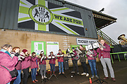 Nailsworth Silver Band during the EFL Sky Bet League 2 match between Forest Green Rovers and Swindon Town at the New Lawn, Forest Green, United Kingdom on 21 December 2019.