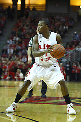 03 December 2011:  Tyler Brown during an NCAA mens basketball game where the University of North Carolina at Wilmington Seahawks defeated the Illinois State Redbirds 63-54 inside Redbird Arena, Normal IL