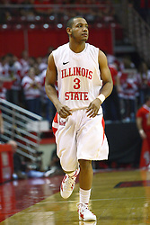 04 February 2012:  Trey Blue during an NCAA Missouri Valley Conference mens basketball game where the Bradley Braves lost to the Illinois State Redbirds 78 - 48 in Redbird Arena, Normal IL