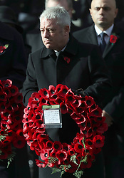 John Bercow during the remembrance service at the Cenotaph memorial in Whitehall, central London, on the 100th anniversary of the signing of the Armistice which marked the end of the First World War.