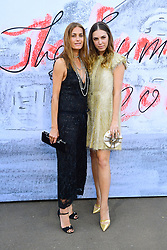 Yasmin Le Bon (left) and Amber Le Bon attending the Serpentine Summer Party 2018 held at the Serpentine Galleries Pavilion, Kensington Gardens, London.
