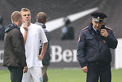 October 10, 2018 - Moscow, Russia - October 9, 2018. - Russia, Moscow. - FC Zenit player Aleksander Kokorin and FC Krasnodar player Pavel Mamaev beat up three people - department chief at the Russian Industry and Trade Ministry Denis Pak, General Director of the Central scientific research automobile and automotive engine institute 'NAMI' Sergey Gaisin and Vitaly Solovchuk, Belarusian-born driver of Channel One host Olga Ushakova, in downtown Moscow. Kokorin's club FC Zenit St. Petersburg and Mamaev's FC Krasnodar have both publicly condemned their players' actions. FC Krasnodar said in a statement that it was seeking to annul Mamaev's contract. (Credit Image: © Russian Look via ZUMA Wire)