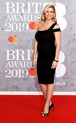 February 21, 2019 - London, London, United Kingdom - Image licensed to i-Images Picture Agency. 20/02/2019. London, United Kingdom. Pregnant Gemma Atkinson at the Brit Awards in London. (Credit Image: © i-Images via ZUMA Press)