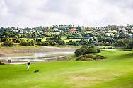 22-10-2018 Almenara Golf Club in Sotogrande, Cádiz, ontworpen door Dave Thomas.<br /> ALMENARA: Uitdaging, de green van hole 6 Los Alcornoques.