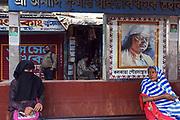 Bus stop scene, Jorasanko, Calcutta (Kolkata)