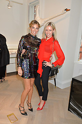 Left to right, ASSIA WEBSTER and NADYA ABELA at a party to celebrate the launch of the new Stephen Webster Salon at 130 Mount Street, London on 18th May 2016.