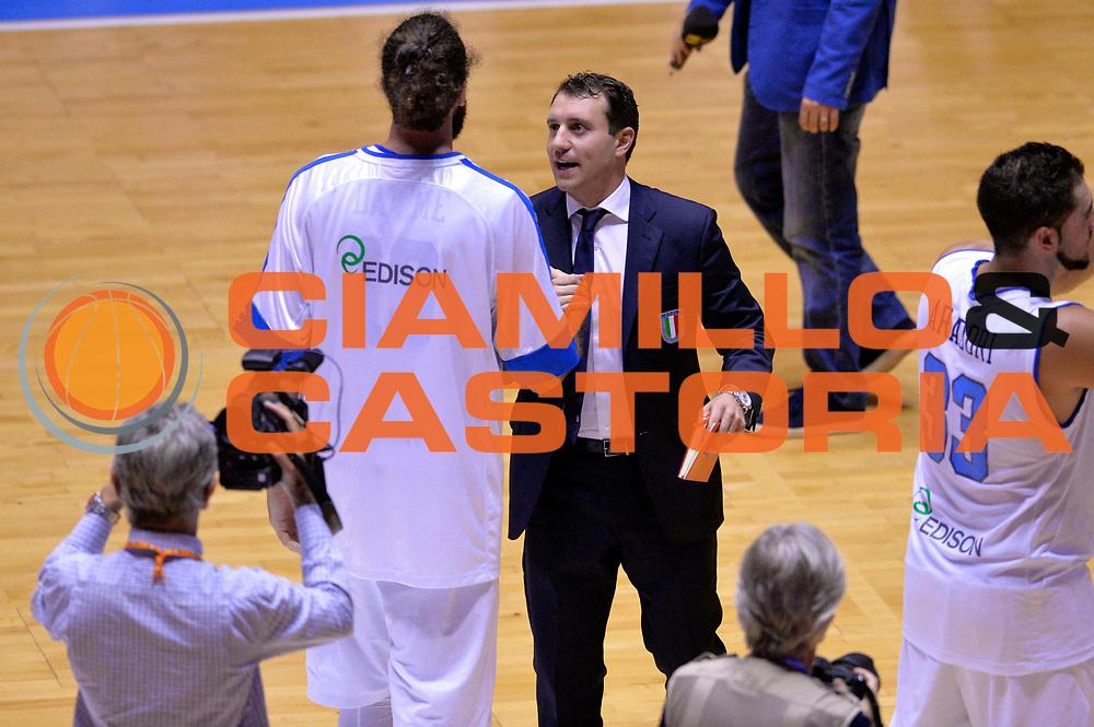 DESCRIZIONE : Cagliari Qualificazione Eurobasket 2015 Qualifying Round Eurobasket 2015 Italia Svizzera Italy Switzerland<br /> GIOCATORE : Francesco D'Aniello <br /> CATEGORIA : Postgame<br /> EVENTO : Cagliari Qualificazione Eurobasket 2015 Qualifying Round Eurobasket 2015 Italia Svizzera Italy Switzerland<br /> GARA : Italia Svizzera Italy Switzerland<br /> DATA : 17/08/2014<br /> SPORT : Pallacanestro<br /> AUTORE : Agenzia Ciamillo-Castoria/GiulioCiamillo<br /> Galleria: Fip Nazionali 2014<br /> Fotonotizia: Cagliari Qualificazione Eurobasket 2015 Qualifying Round Eurobasket 2015 Italia Svizzera Italy Switzerland<br /> Predefinita :
