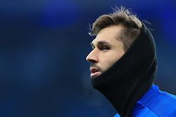 16th December 2017 - Premier League - Manchester City v Tottenham Hotspur - Fernando Llorente of Spurs wears a snood during the warm-up - Photo: Simon Stacpoole / Offside.